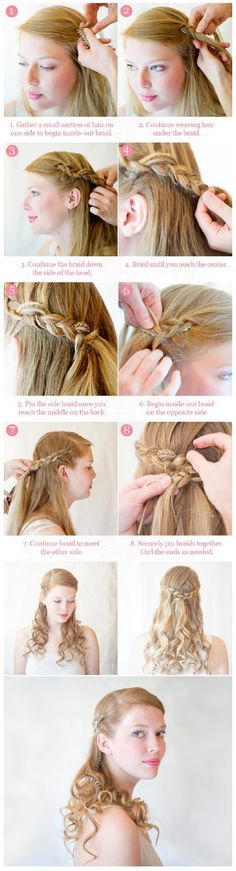Inside-Out Half Up Braid