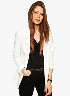 Buy Liebemode White Solid Long Coat for Women Online India, Best Prices, Reviews | LI964WA23HIQINDFAS