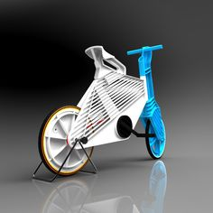 israeli design student dror peleg has designed 'frii' for for his degree at bezalel academy of art and design, jerusalem.   focusing on the mass production of bicycles with limited resources, this single speed city bike is made with various   recycled plastics using injection molding technology.