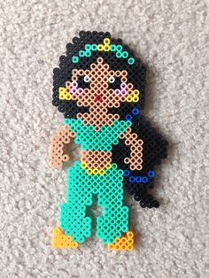 Jasmine perler beads by Amy Johnson Castro