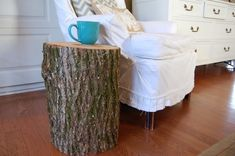 how do you seal off a log?  Is there a sealer for this?  I want a log for end tables!