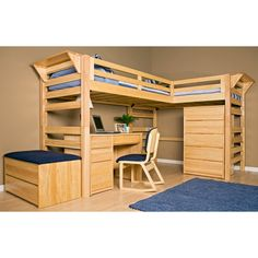 Loft beds on Pinterest | Twin, Loft Bed Plans and Room Layouts