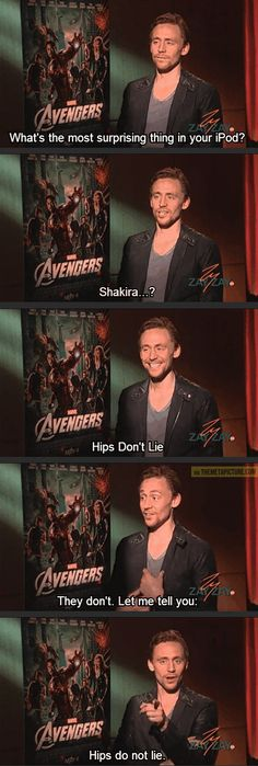 Tom Hiddleston just seems like a cool dude - Album on Imgur