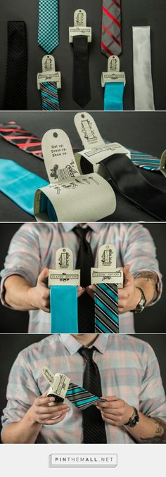 Tie'd Up Neck Ware (Student Project) - Packaging of the World - Creative Package Design Gallery - http://www.packagingoftheworld.com/2016/10/tied-up-neck-ware-student-project.html