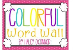 This adorable set is perfect to brighten up any classroom! The packet includes word wall cards for Dolch Primer, Pre-Primer, and 1st Grade, color words, and two header versions. One version has capital and lowercase, and the other just has capital.