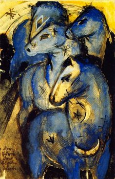 """Mary Oliver """"Franz Marc's Blue Horses"""""""