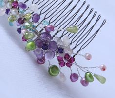 bridal wedding hair comb spring wedding hair accessory by Phaness, $64.00
