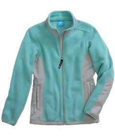 Charles River Apparel 5031 Women's Evolux Fleece Jacket - Teal/Grey #CharlesRiverApparel #tealgrey #fleecejacket