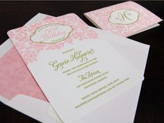 Pink 50th birthday party invitation from Chic Ink #letterpress