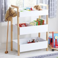 a stylish yet functional way to organise and store toys and books in a child 39 s bedroom or. Black Bedroom Furniture Sets. Home Design Ideas