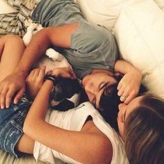 Couple kiss romantic relationship girlfriend boyfriend beautiful dog simple perfect dream
