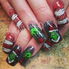 grinch nails
