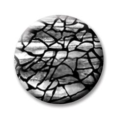 """Crackle 4 (Magnetic) Design insert  that fits into 1""""Magnabilities interchangeable jewelry."""