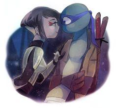 Karai: so we arent siblings.....me: y-y-yeah....karai: -grabs mask and kisses- me: -blushes-