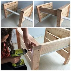 Modern Outdoor Chair from and Ana White Modern Outdoor Chairs, Outdoor Furniture Plans, Diy Furniture Easy, Diy Furniture Projects, Woodworking Projects Diy, Diy Wood Projects, Woodworking Tools, Diy Möbelprojekte, Easy Diy