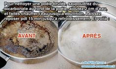 Utilisez du bicarbonate pour nettoyer une poele brulée House Cleaning Tips, Diy Cleaning Products, Cleaning Hacks, Fee Du Logis, Clean House, Good To Know, Oatmeal, Household, Pudding