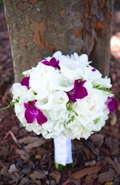 bouquets, dutch hydrangea, elegant, orchid, purple, rose, white, shabby chic, DeBary, Florida