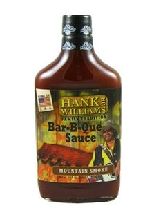 Hank Williams Jr. Family Tradition Mountain Smoke BBQ Sauce is an old-fashioned all-American BBQ sauce with big, bold flavors blending savory, sweet, tangy & smoky with just a bit of a kick. Perfect for slathering on ribs (pork or beef), chicken, chops & burgers, it's also great on brisket & London broil, or in meatloaf & other recipes. Buy on sale for $5.95 here: http://www.carolinasauces.com/Hank_Williams_Jr_Family_Tradition_Mountain_Smoke_p/9124.htm