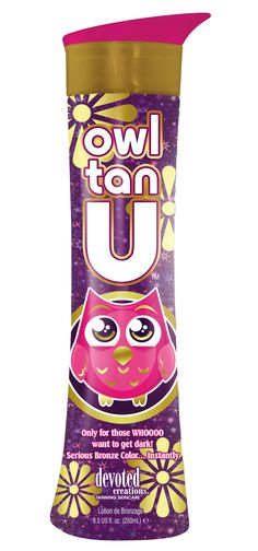 WHOOO wants to get tan? Devoted Creations NEW Owl Tan U bronzer will give you instant color and a lasting dark tan!