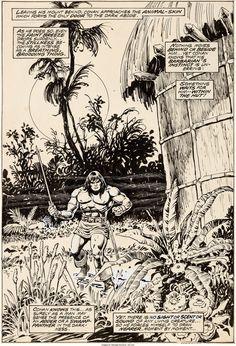 Howard Chaykin and Ernie Chan Conan the Barbarian #82 Splash Page - W.B.