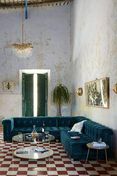 Living room velvet. Casa Vogue Globo