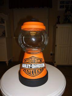 Harley Davidson Candy Jar