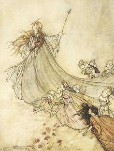 """Arthur Rackham - illustration from """"A Midsummer-Night's Dream"""""""