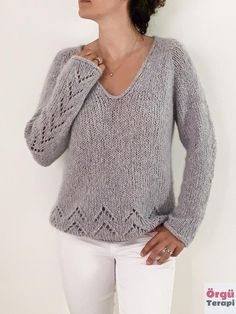 Sweater Knitting Patterns, Knitting Stitches, Knit Patterns, Free Knitting Patterns For Women, Summer Sweaters, Sweaters For Women, Women's Sweaters, Ravelry, Pull Mohair