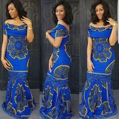 Blue African print dress,African clothing,African maxi dress,African print dress for prom,African dr African Maxi Dresses, Ankara Gowns, Ankara Dress, African Attire, African Wear, African Women, African Style, African Outfits, 50s Dresses