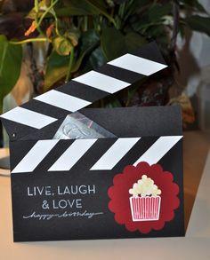 Kinogutschein selber basteln als Filmklappe