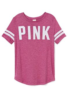 Victoria's Secret Athletic Tee ($27) ❤ liked on Polyvore ...