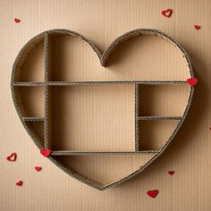 12 Brilliant Ways to Reuse Cardboard Boxes - cardboard heart shadow box The Effective Pictures We Offer You About creative crafts A quality pic - Big Cardboard Boxes, Cardboard Box Crafts, Paper Crafts, Cardboard Playhouse, Cardboard Toys, Decorative Cardboard Boxes, Cardboard Box Storage, Cardboard Organizer, Paper Toys