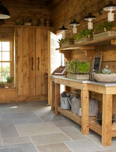 rustic potting shed