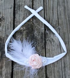 newborn tieback headband, newborn photo prop, newborn photoshoot headband, baby tieback headband, floral tieback