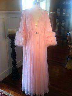 Vintage Hollywood Glamour Lucie Ann Pom Pom Peignoir Robe | eBay