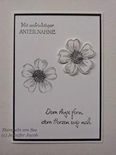 Herzen statt Blumen Trauerkarte