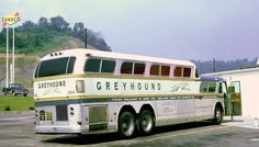 vintage bus greyhound