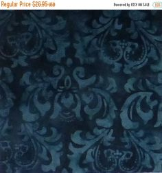 Java Quilt Backs - Blue Damask 108 | 108  wide Quilt backing ... : wide quilt backing fabric sale - Adamdwight.com