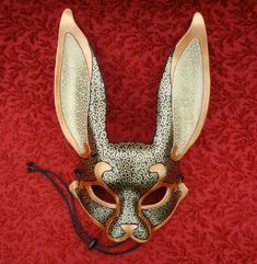 Venetian Rabbit Mask V7... handmade leather rabbit mask. $140.00, via Etsy.