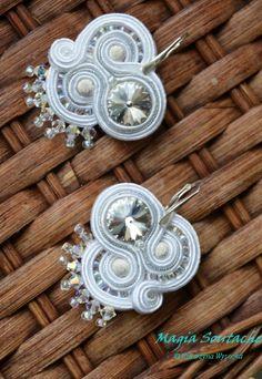 crystal clear Soutache Jewelry, Brides, Crystals, Earrings, Ear Studs, Pendants, Ear Rings, Stud Earrings, Ear Piercings