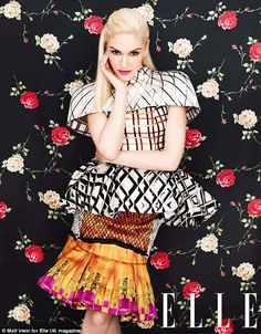 Love her and love the clashing bold prints
