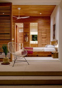 Contemporary Bedroom With Private Patio // Casa Xixim By Specht Harpman Architects