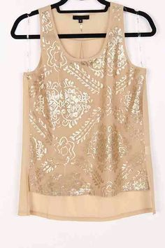 Damask Luster top in soft mocha.  LOVE  THIS!!! Emma Stein Limited