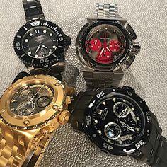 Invicta grand diver automatic X-Wing chronograph Subaqua Specialty chronograph Pro Diver chronograph via @invictaryan