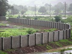 Styleearth Precast are leading manufacturers and suppliers of Precast Boundary Walls in Bangalore. Pre Cast Boundary Wall is a technology which fulfils the modern requirements of stronger, more durable,lean and economical than traditional boundary wall. Concrete Fence Wall, Brick Fence, Front Yard Fence, Precast Concrete, Farm Fence, Concrete Walls, Horse Fence, Glass Fence, Stone Fence