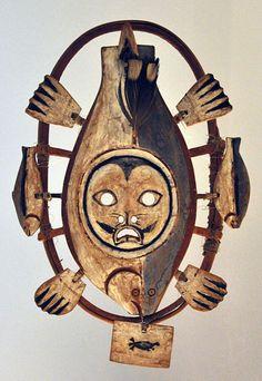 Yup'ik mask, Hooper Bay, 1930's, British Museum