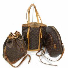 ea9ca872d859 (eBay link) Auth Louis Vuitton Hand Bag 3 pcs set Monogram Bucket GM  Ellipse GM Noe 501120  fashion  clothing  shoes  accessories   womensbagshandbags