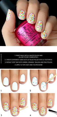 Crazy for polka dots Nails