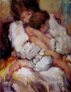 """""""Mother & Child"""" Oil Painting by Artist NORA KASTEN"""