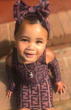 Official Skyla A'Lori 👑 ( Cute Mixed Babies, Cute Black Babies, Beautiful Black Babies, Beautiful Children, Cute Babies, Cute Kids Fashion, Baby Girl Fashion, Fashion Children, Outfits Niños